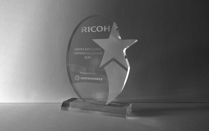 Centriworks Service Recognized Nationally as a 2020 Ricoh RFG Circle of Excellence Certified Dealership